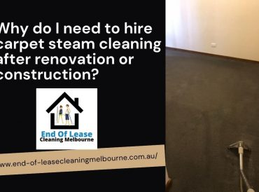 carpet steam cleaning after renovation